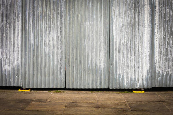 Background Art Print featuring the photograph Corrugated Metal by Tom Gowanlock