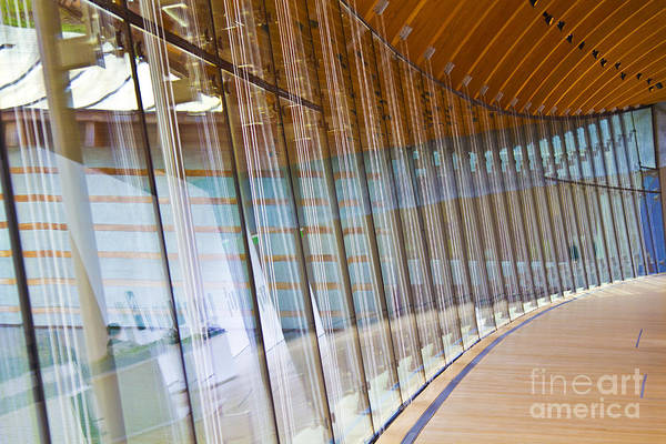 Wall Art Print featuring the photograph Curved Glass Wall Pattern by ELITE IMAGE photography By Chad McDermott