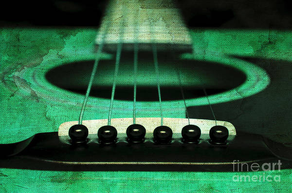 Andee Design Abstract Print featuring the photograph Edgy Abstract Eclectic Guitar 15 by Andee Design
