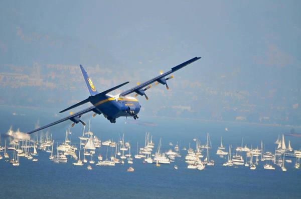 Fleet Week Art Print featuring the photograph Fleet Week On San Francisco Bay by Scott Lenhart