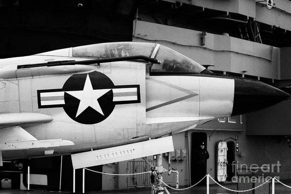 Usa Art Print featuring the photograph Mcdonnell F3h2n F3b F3 Demon On The Flight Deck On Display At The Intrepid Sea Air Space Museum by Joe Fox