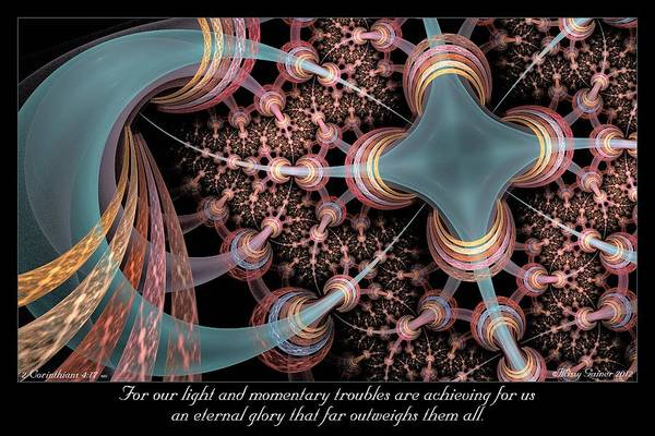 Fractal Art Print featuring the digital art Momentary Troubles by Missy Gainer