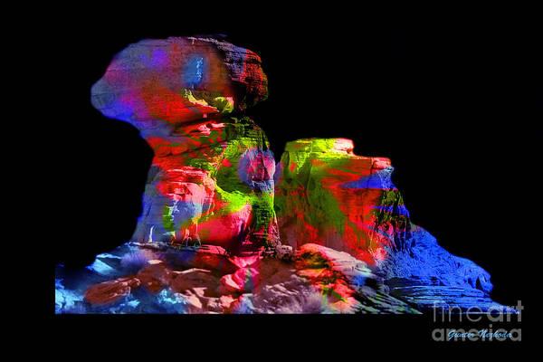 Red Art Print featuring the photograph Mushroom Rock by Gunter Nezhoda