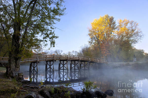 Autumn Art Print featuring the photograph Old North Bridge Concord by Brian Jannsen