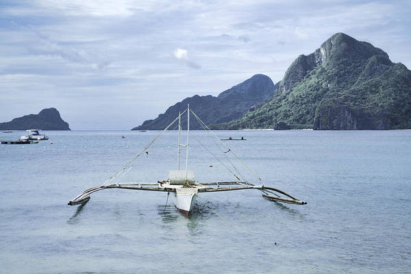 Palawan Beach With Boat Philippines Art Print