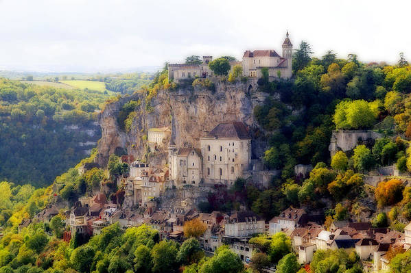 Mediaeval Art Print featuring the photograph Rocamadour by Rod Jones