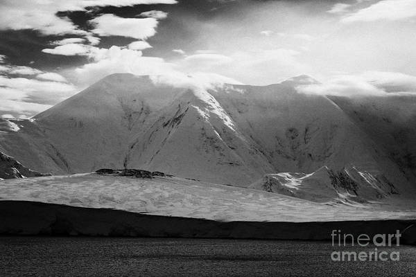 Snow Art Print featuring the photograph snow covered landscape of anvers island and neumayer channel Antarctica by Joe Fox