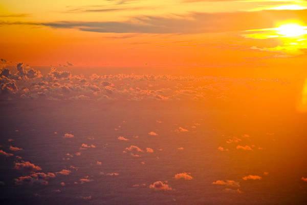 Sunrise Art Print featuring the photograph Sunset In The Sky by Raimond Klavins
