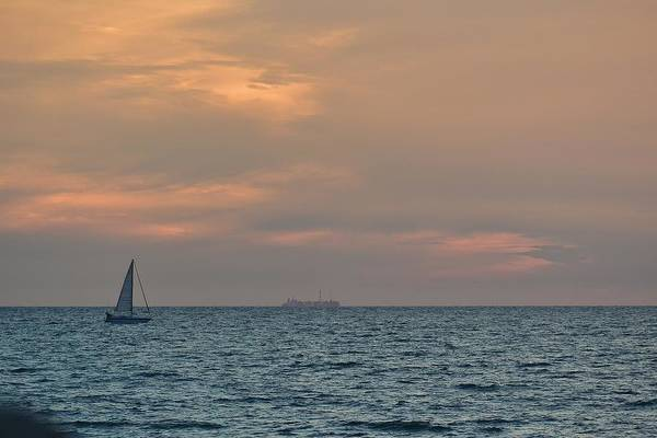 Sunset Art Print featuring the photograph Sunset Sailing by Carol Lynn Pasewark