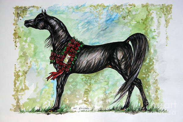 Horse Art Print featuring the painting The Champion by Angel Ciesniarska