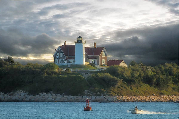 Nobska Point Lighthouse Art Print featuring the photograph The Light At Nobska Point Photo Art by Constantine Gregory