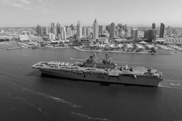 Uss Boxer Art Print featuring the photograph Uss Boxer In San Diego by Mountain Dreams