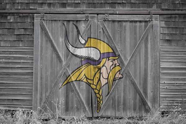 Vikings Art Print featuring the photograph Minnesota Vikings by Joe Hamilton