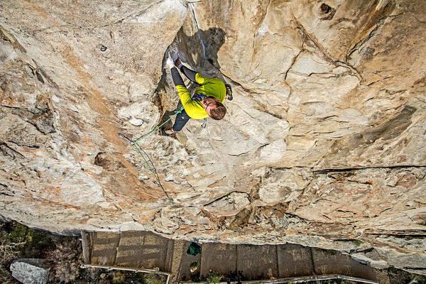 Elijah Weber Art Print featuring the photograph Rock Climber by Elijah Weber