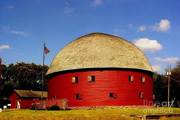 100 Year Old Round Red Barn Photograph Art Print featuring the photograph 100 Year Old Round Red Barn by Janette Boyd