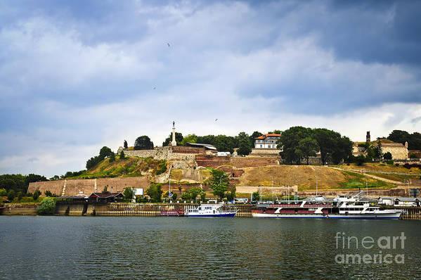 Kalemegdan Art Print featuring the photograph Kalemegdan Fortress In Belgrade by Elena Elisseeva