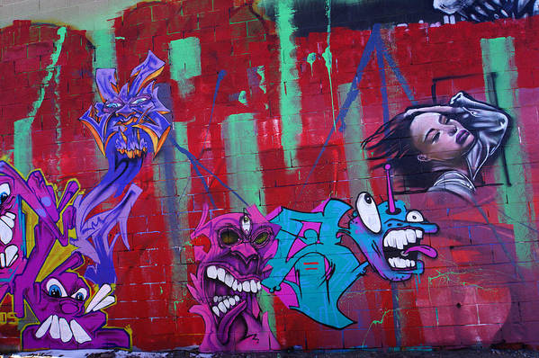 Graffiti Art Print featuring the photograph Shadows Of Substance by Steve Keller