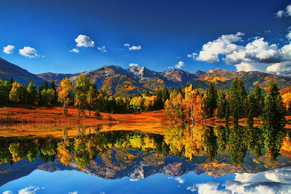 Landscape Art Print featuring the photograph Fall Colors by Mark Smith