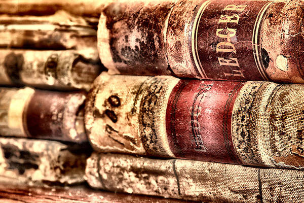 Book Art Print featuring the photograph 1900 Ledgers by Nadine Lewis