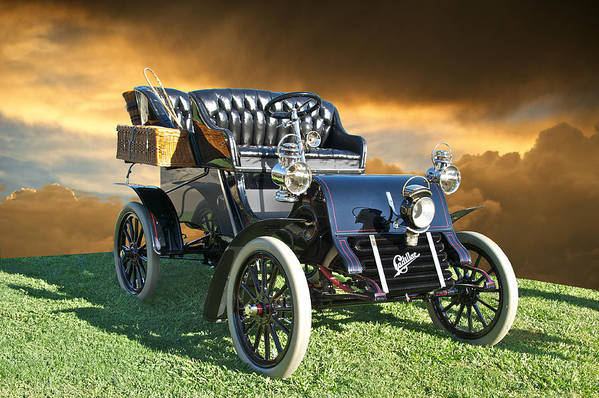 American Art Print featuring the photograph 1903 Cadillac A Tonneau by Dave Koontz