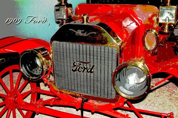 1909 Ford Art Print featuring the photograph 1909 Ford Digital Art by A Gurmankin