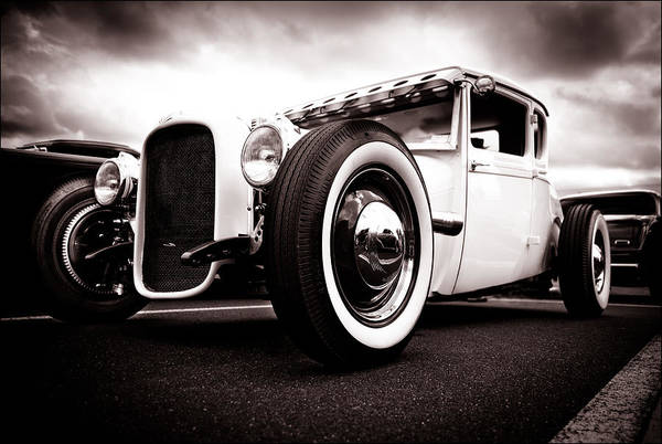 Ford Hotrod Art Print featuring the photograph 1928 A Coupe by Phil 'motography' Clark