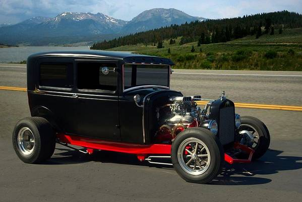 1931 Art Print featuring the photograph 1931 Ford Model A Sedan Hot Rod by Tim McCullough