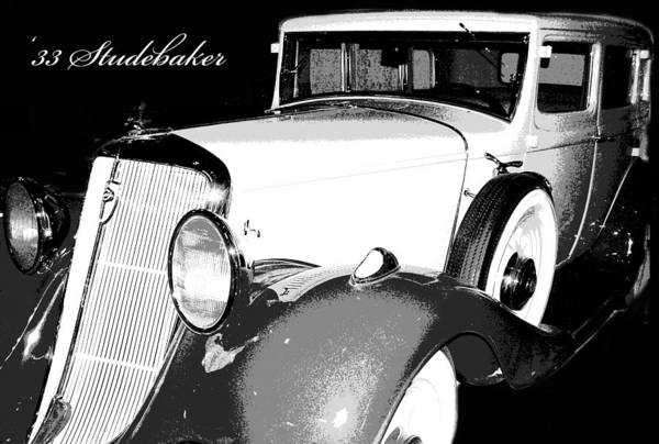1933 Studebaker Art Print featuring the photograph 1933 Studebaker Digital Art by A Gurmankin