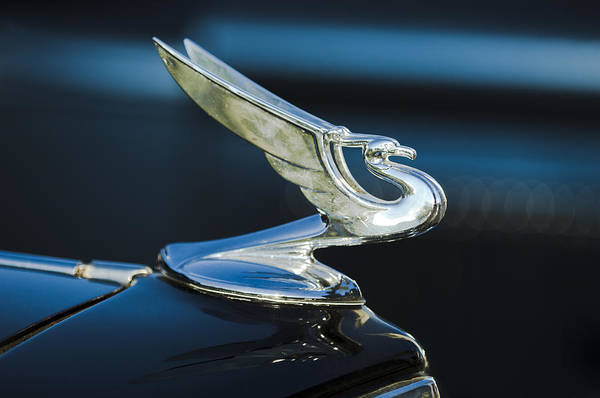 1935 Chevrolet Sedan Print featuring the photograph 1935 Chevrolet Sedan Hood Ornament by Jill Reger
