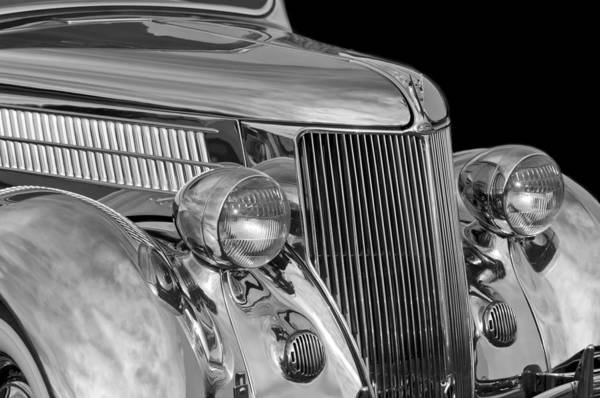 1936 Ford - Stainless Steel Body Art Print featuring the photograph 1936 Ford - Stainless Steel Body by Jill Reger