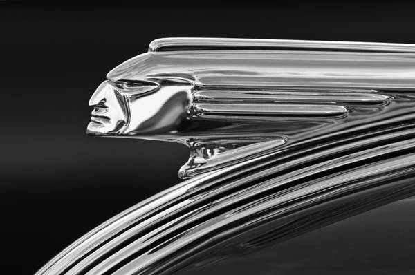 1939 Pontiac Silver Streak Art Print featuring the photograph 1939 Pontiac Silver Streak Hood Ornament 3 by Jill Reger