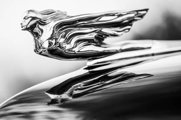 1941 Cadillac Art Print featuring the photograph 1941 Cadillac Hood Ornament 4 by Jill Reger