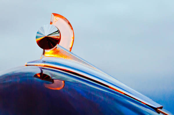 1949 Ford Art Print featuring the photograph 1949 Ford Hood Ornament 2 by Jill Reger