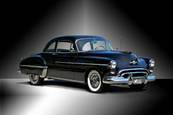 Auto Art Print featuring the photograph 1950 Oldsmobile 88 Deluxe Club Coupe I by Dave Koontz