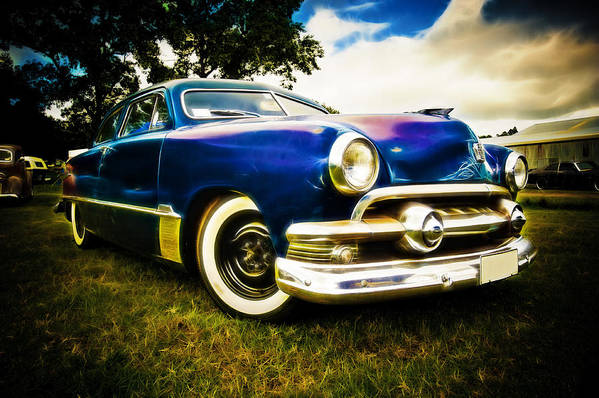 Ford Custom V8 Art Print featuring the photograph 1951 Ford Custom by Phil 'motography' Clark