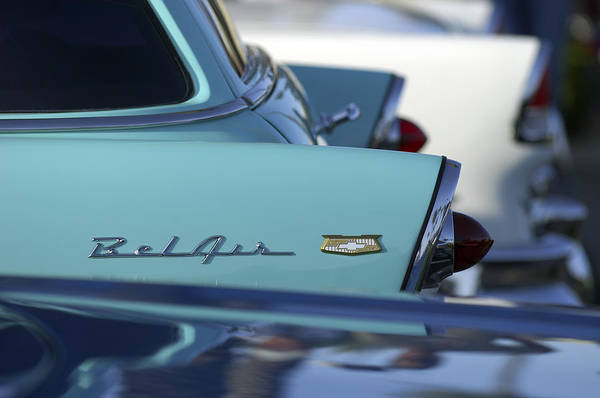 Car Art Print featuring the photograph 1956 Chevrolet Belair Nomad Rear End by Jill Reger