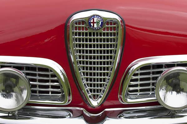 1959 Alfa Romeo Giulietta Sprint Print featuring the photograph 1959 Alfa Romeo Giulietta Sprint Grille by Jill Reger