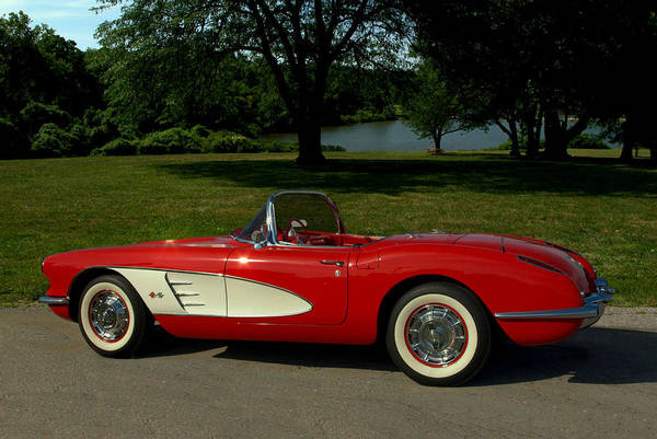 1960 Art Print featuring the photograph 1960 Corvette by Tim McCullough