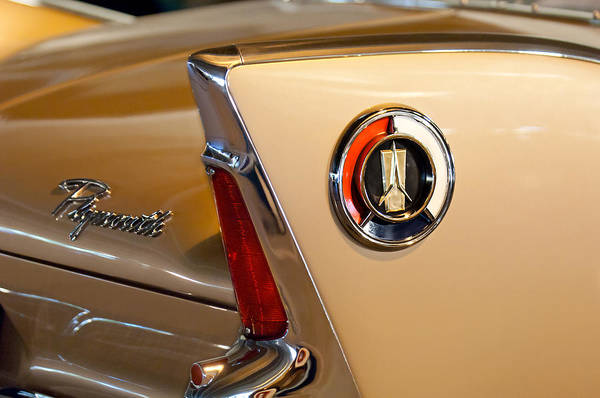 1960 Plymouth Fury Convertible Art Print featuring the photograph 1960 Plymouth Fury Convertible Taillight And Emblem by Jill Reger