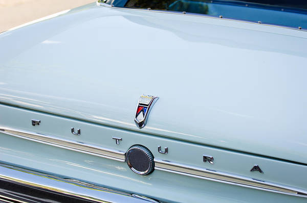 1963 Ford Falcon Futura Convertible Rear Emblem Art Print featuring the photograph 1963 Ford Falcon Futura Convertible Rear Emblem by Jill Reger