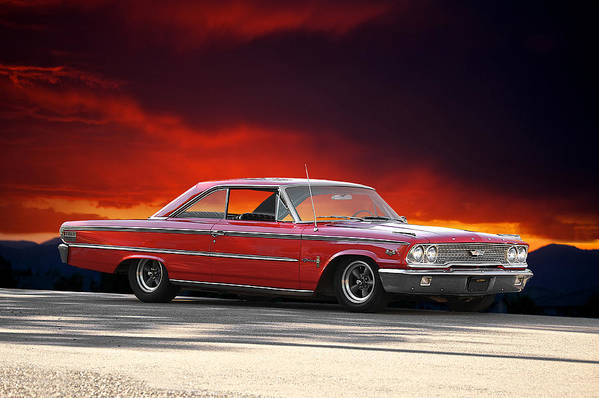 Alloy Art Print featuring the photograph 1963 Ford Galaxie 427 by Dave Koontz
