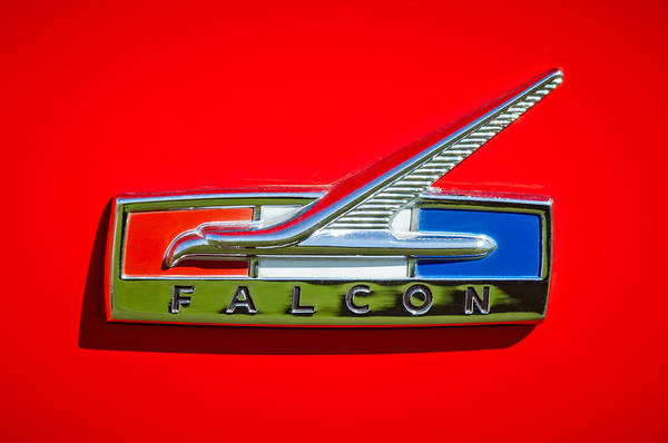 1964 Ford Falcon Emblem Art Print featuring the photograph 1964 Ford Falcon Emblem by Jill Reger