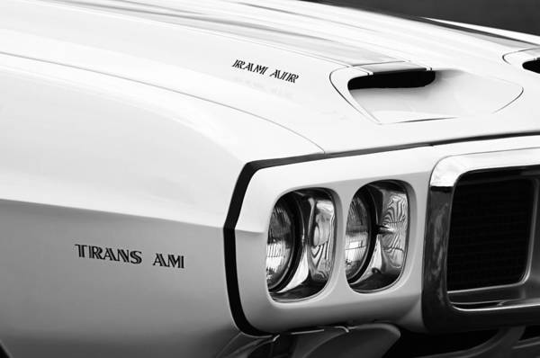 1969 Pontiac Trans Am Art Print featuring the photograph 1969 Pontiac Trans Am by Jill Reger