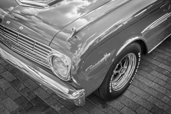 1963 Ford Falcon Sprint Art Print featuring the photograph 1963 Ford Falcon Sprint Convertible Bw by Rich Franco