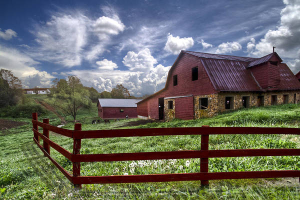 Clouds Art Print featuring the photograph All American by Debra and Dave Vanderlaan