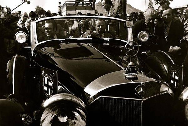 Auction Sale Last Ride Adolf Hitler's Model 770-k 1941 Mercedes-benz Touring Car Scottsdale Az 1973 Art Print featuring the photograph Auction Sale Last Ride Adolf Hitler's Model 770-k 1941 Mercedes-benz Touring Car Scottsdale Az 1973 by David Lee Guss