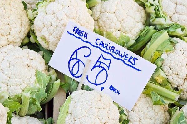 Agricultural Art Print featuring the photograph Cauliflower by Tom Gowanlock