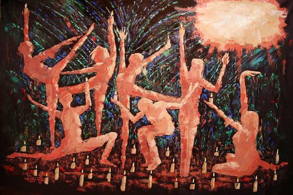 Children Of The Light Framed Prints Art Print featuring the painting Children Of The Light by Anthony Falbo