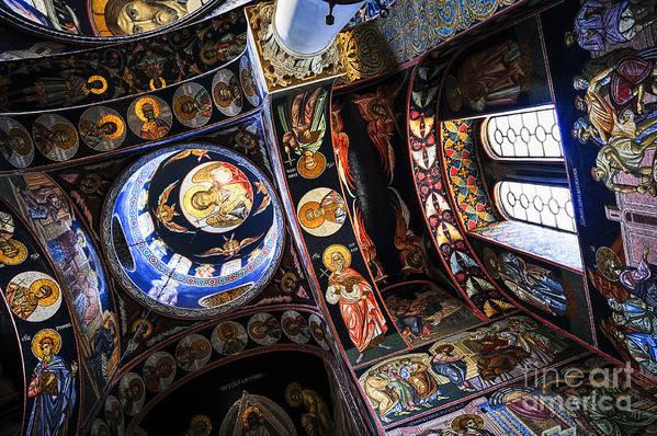 Mosaic Art Print featuring the photograph Church Interior by Elena Elisseeva