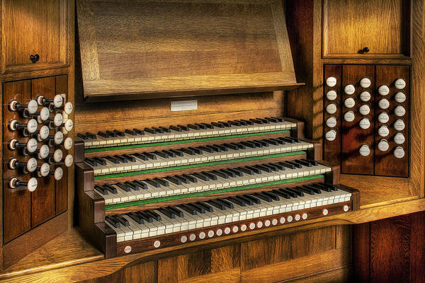 Organ Art Print featuring the photograph Church Organ by Ian Mitchell